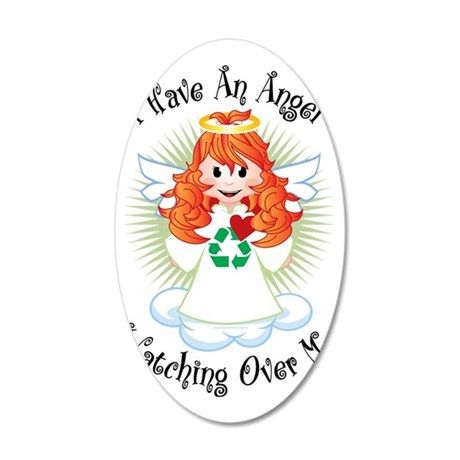 Angel-Watching-Over-Me-Recyc 35x21 Oval Wall Decal