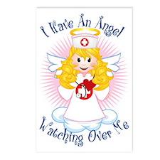Angel-Watching-Over-Me-Nu Postcards (Package of 8)
