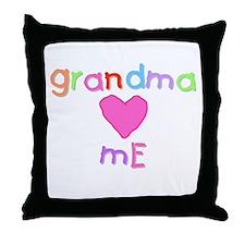 Grandma Loves Me (A) Throw Pillow