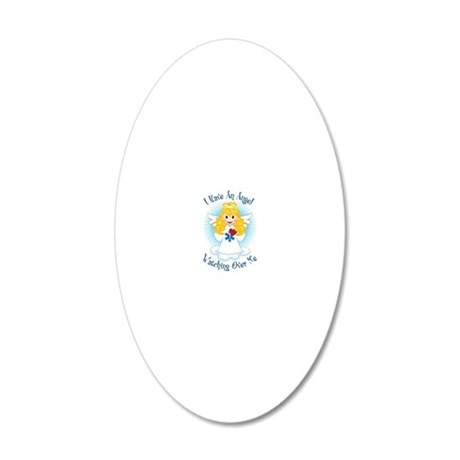 Angel-Watching-Over-Me-EMT 20x12 Oval Wall Decal