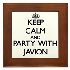 Keep Calm and Party with Javion Framed Tile