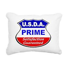 USDA- Black Rectangular Canvas Pillow
