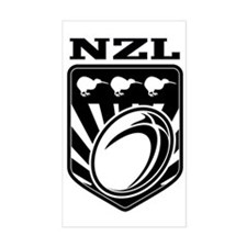 rugby ball kiwi shield new zea Decal