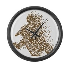 Dirt Bike Large Wall Clock