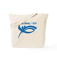 Blue Jesus Fish Tote Bag
