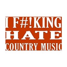 I Hate Country Music Wall Decal
