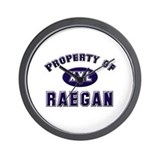 Property of raegan Wall Clock