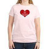 Greatest Valentine: Leland Women's Pink T-Shirt