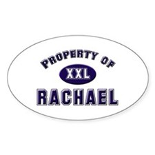 Property of rachael Oval Decal