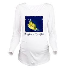 cowfish shirt Long Sleeve Maternity T-Shirt