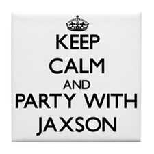 Keep Calm and Party with Jaxson Tile Coaster