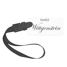 Wittgenstein_early_blkscript1 Luggage Tag