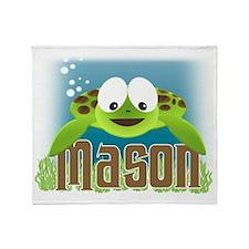 mason-turtle Throw Blanket