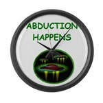 funny alien abduction ufo joke Large Wall Clock