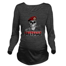 spetsnazskull Long Sleeve Maternity T-Shirt