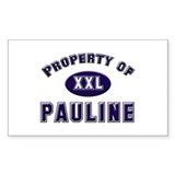 Property of pauline Rectangle Decal