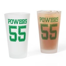 POWERS GREEN Drinking Glass