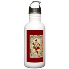 dancing_santa_inredmat Water Bottle