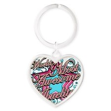 Worlds Most Awesome Abuelita Heart Keychain
