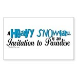 Invitation to Paradise Rectangle Sticker