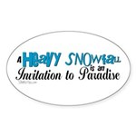 Invitation to Paradise Oval Sticker
