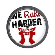 We Rakk Harder Wall Clock