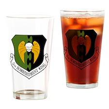 5th Bomb Wing - Black Drinking Glass