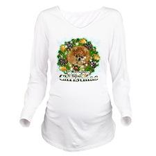 Merry Christmas Pome Long Sleeve Maternity T-Shirt