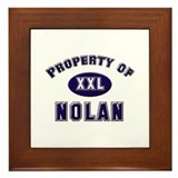 Property of nolan Framed Tile