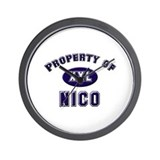 Property of nico Wall Clock