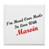 In Love with Marvin Tile Coaster