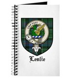 Leslie Clan Crest Tartan Journal