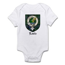 Leslie Clan Crest Tartan Infant Bodysuit