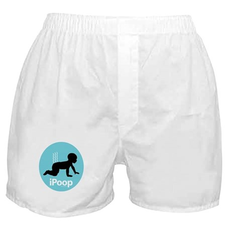 iPoop (Blue) Boxer Shorts