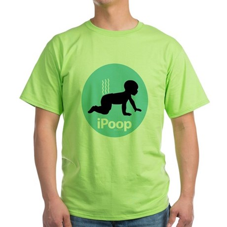 iPoop (Blue) Green T-Shirt