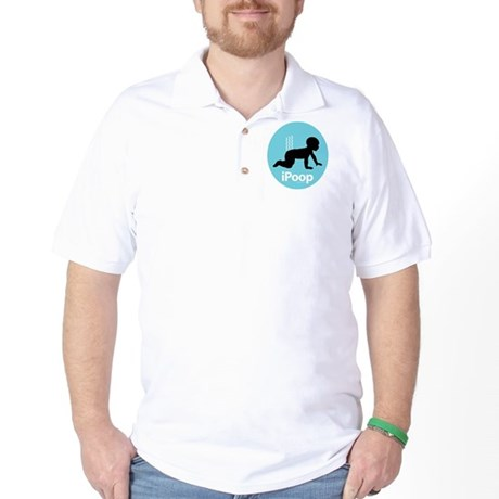 iPoop (Blue) Golf Shirt