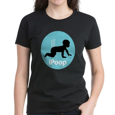iPoop (Blue) Women's Dark T-Shirt