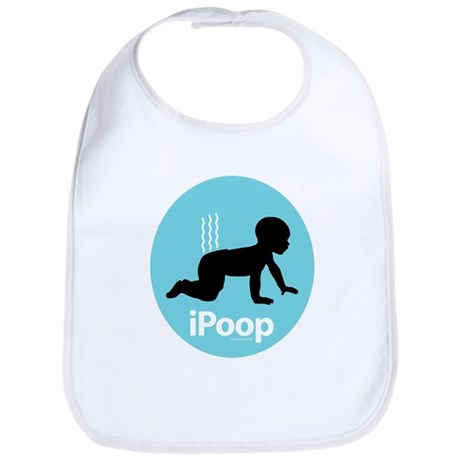 iPoop (Blue) Bib