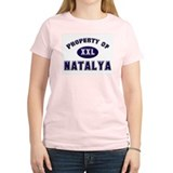 Property of natalya Women's Pink T-Shirt