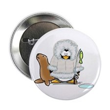 Eskimo Penguin Button