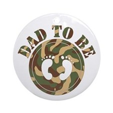 Dad To Be (Camo) Ornament (Round)