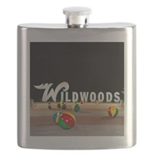 Wildwoods Sign Wildwood New Jersey Flask