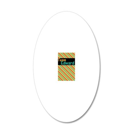 team edward phone case 20x12 Oval Wall Decal