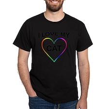 i love my CAT rainbow heart T-Shirt