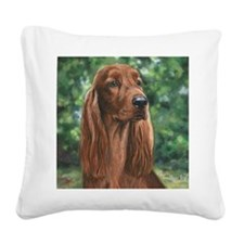 Irish_Setter_M Square Canvas Pillow