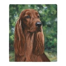 Irish_Setter_M1 Throw Blanket
