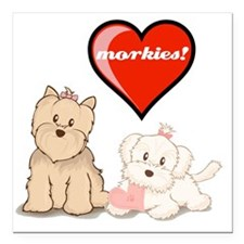 "teddy-bear-tshirt Square Car Magnet 3"" x 3"""