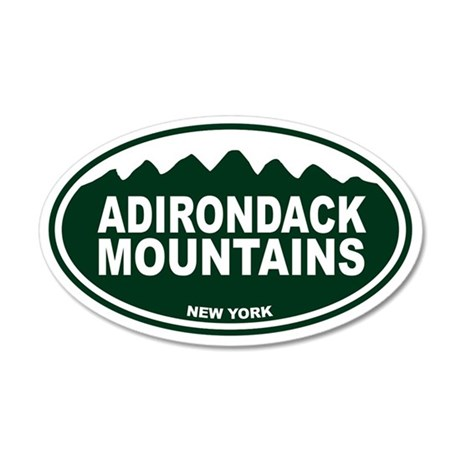 Adirondack Mountains Oval 35x21 Oval Wall Decal