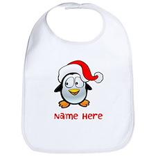 Penguin Santa Bib