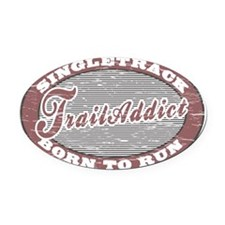 TraillAddict_RunnerG Oval Car Magnet